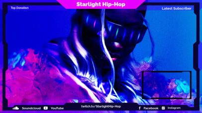 Twitch Overlay Creator for a Hip-Hop Channel with Neon Graphics 2678a