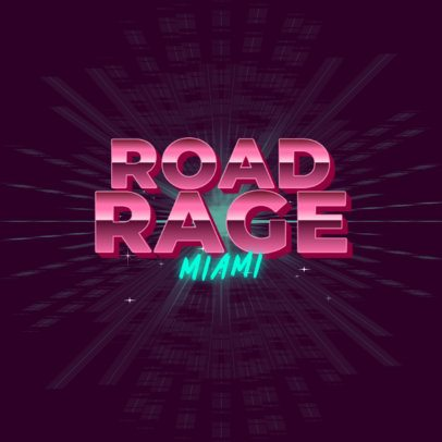 Typography Logo Creator with a Miami Vice Vibe 3397b