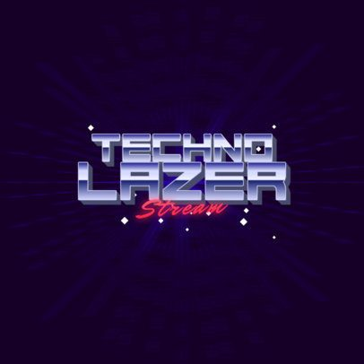Techno-Style Logo Maker with Retro Typography 3397d