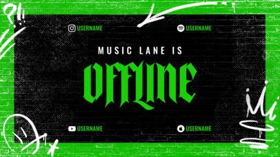 Twitch Offline Banner Creator for Musicians Featuring a Street Style 2703