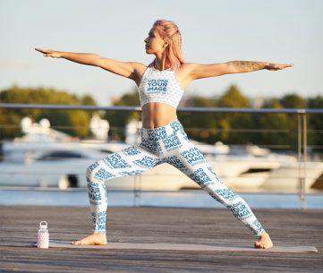 Leggings and Sports Bra Mockup of a Woman Doing a Yoga Pose 38589-r-el2