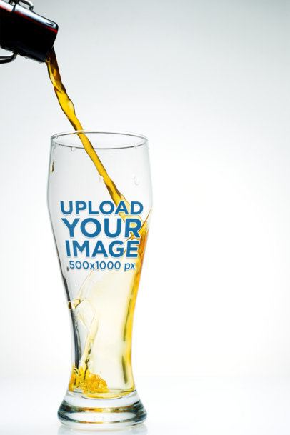 Mockup Featuring a Tall Beer Glass in a Minimal Setting 36291-r-el2