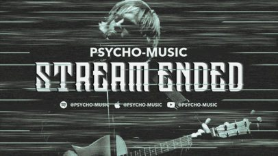 Twitch Offline Banner Maker for a Psycho Music Channel 2700f