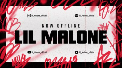 Twitch Offline Banner Generator with Graffiti Scribbles for a Musician 2703g