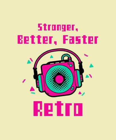 Music-Themed T-Shirt Design Generator with an 80s Vibe 2693a