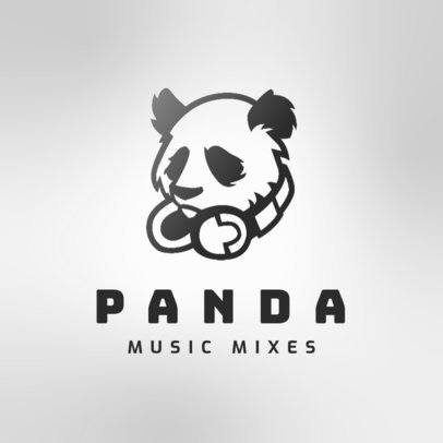 Music Logo Maker Featuring a Graphic of a Panda with Headphones 3427f