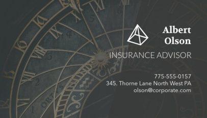 Business Card Maker for an Insurance Advisor 148a