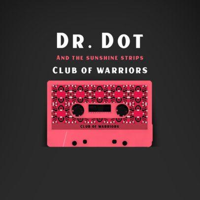 Album Cover Maker Featuring a Colorful Cassette Graphic 2712e