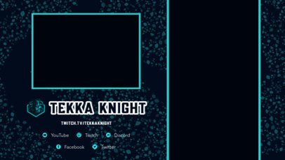 Twitch Overlay Design Template with Vertical Screen Frames for Mobile Gaming 2728