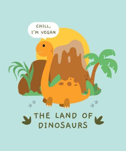 Kids T-Shirt Design Maker with Sweet Illustrations of Dinosaurs 2204-el1