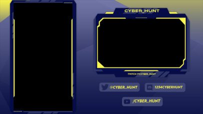 Twitch Overlay Design Maker with a Vertical Screen Frame 2729g