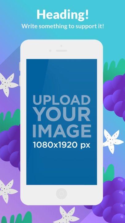 Flat White iPhone 6s Portrait Appstore Screenshot Builder 1337a