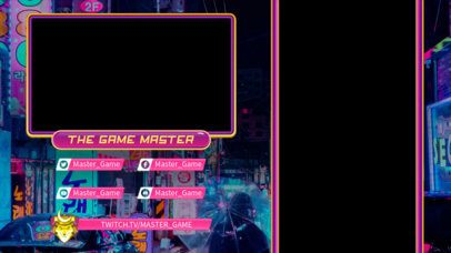 Twitch Overlay Maker Featuring Japanese-Style Gaming Graphics 2727c