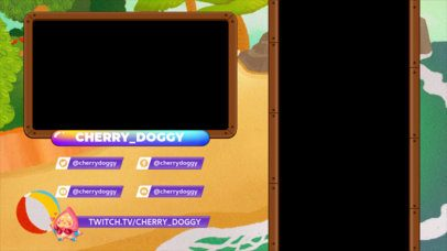 Mobile Gaming Twitch Overlay Maker Featuring Illustrated Landscapes 2727e