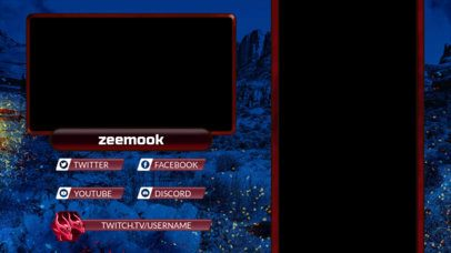 Twitch Overlay Maker with a Webcam Frame and a Dragon Graphic 2727i