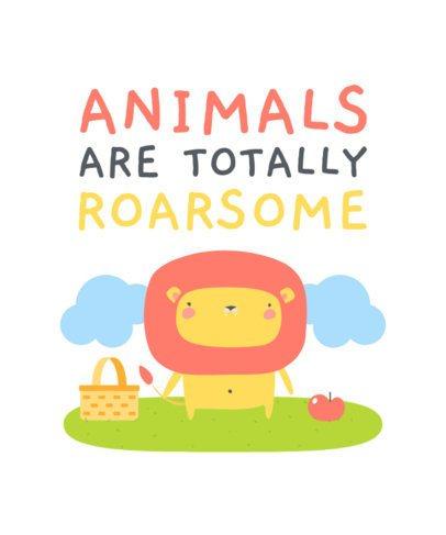 T-Shirt Design Template Featuring Cute Animal Illustrations 2338-el1