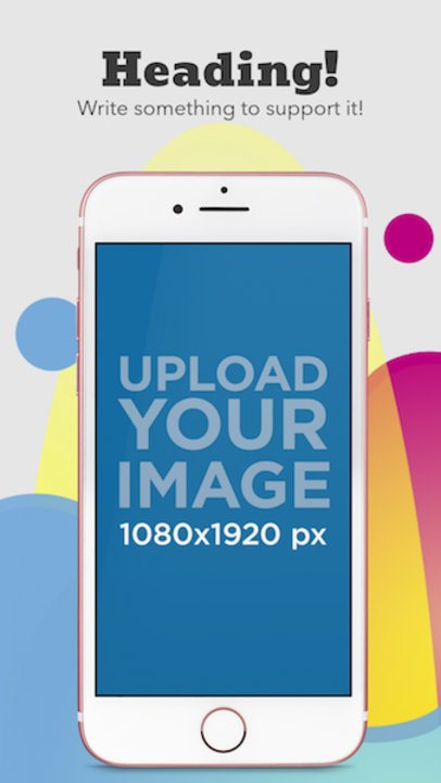 Portrait Pink iPhone 7 iOS Screenshot Generator 1345