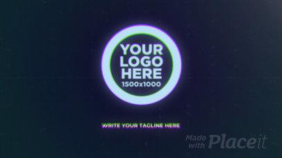 Logo Reveal Intro Maker Featuring Glitchy Pixels 2115-el1