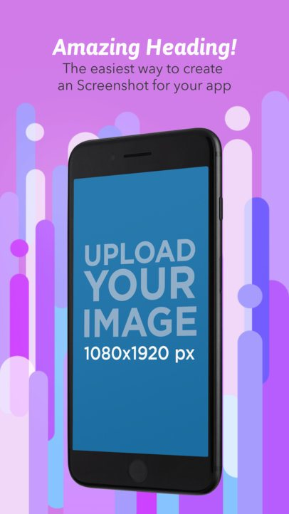 Black Angled iPhone In Portrait Position Appstore Screenshot Generator 1315