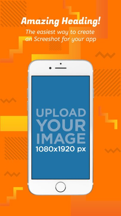 White iPhone Portrait Position App Store Screenshot Generator