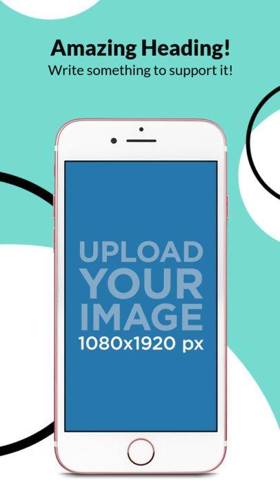 iPhone 7 On Portrait Position iOS Screenshot Generator 1353a