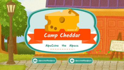 Animal Crossing-Inspired Twitch Banner Video Maker with a Cheese Graphic 148