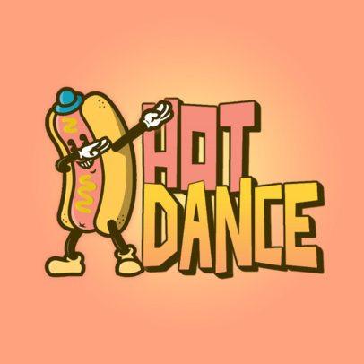Logo Creator with an Icon of a Hot Dog Dabbing 3529b