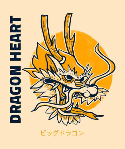 T-Shirt Design Creator with the Illustration of a Traditional Chinese Dragon 2780e