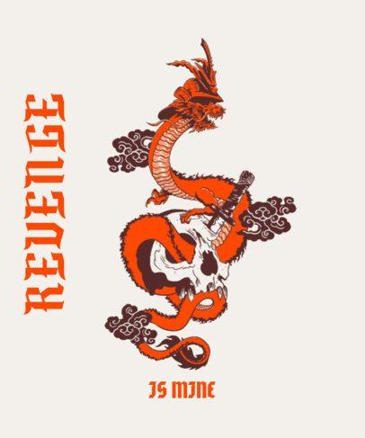 Trendy T-Shirt Design Maker Featuring a Vengeful Dragon Graphic 2780a
