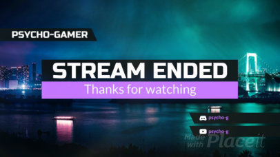 Twitch Stream Ended Screen Video Maker with Simple Animations 1035