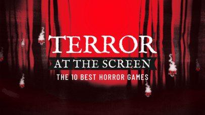 YouTube Thumbnail Maker for Horror Gaming Reviews 2797