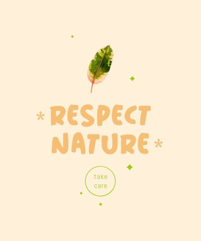 T-Shirt Design Template with a Nature Quote 2496a-el1