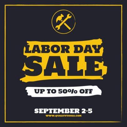 Simple Instagram Post Creator Featuring a Labor Day Sale 2469-el1
