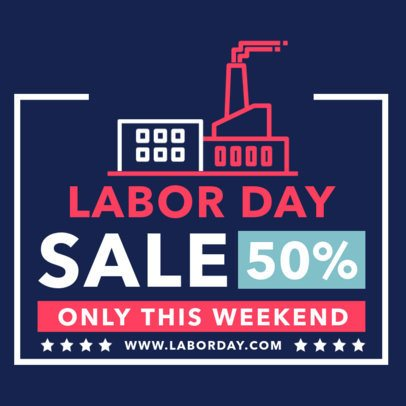 Instagram Post Design Template for a Labor Day Special Sale 2467-el1