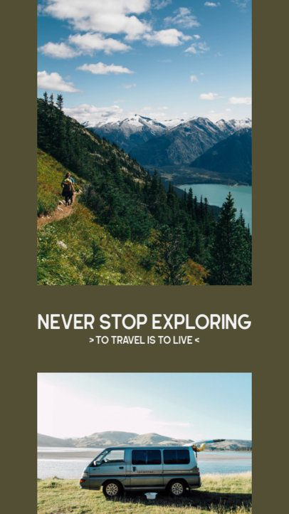 Instagram Story Generator with a Two-Picture Layout for Travel Bloggers 2485a-el1