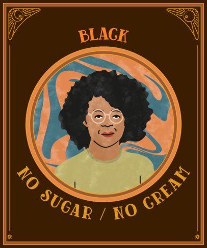T-Shirt Design Creator Featuring a Proud Black Woman Illustration 2801a