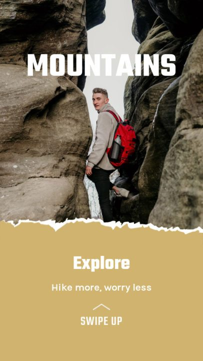 Travel-Themed Instagram Story Maker for Hiker Bloggers 2483c-el1