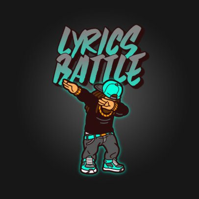 Logo Generator for an Urban Apparel Brand Featuring a Rapper Dabbing 3527e