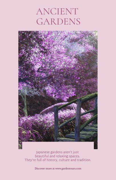 Japanese Garden Flyer Template 698b