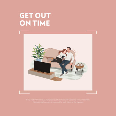 Instagram Post Generator for a Home Office-Themed Advice 2588a-el1