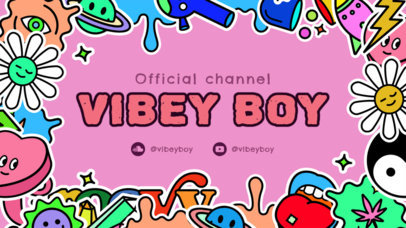 Twitch Banner Design Maker Featuring Psychedelic Graphics 2825e