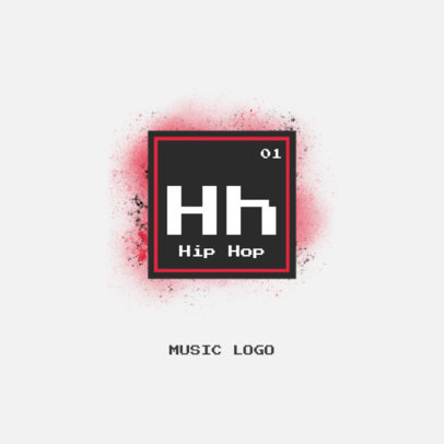 Music Logo Maker Featuring a Periodic Table-Style Graphic 3573h