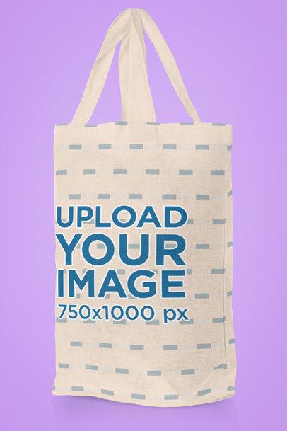 Tote Bag Mockup Featuring a Plain Color Background 41551-r-el2