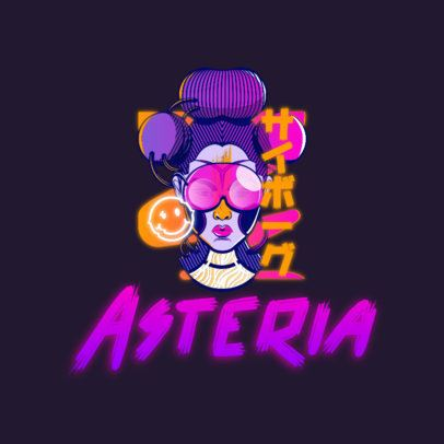Gaming Logo Creator Featuring Characters with a Cyberpunk Style 3601