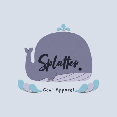 Kids' Apparel Logo Generator Featuring a Whale Illustration 3607g