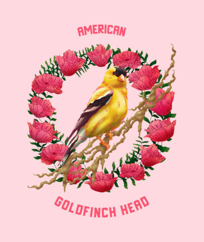Tote Bag Design Maker Featuring a Goldfinch Bird 2833c