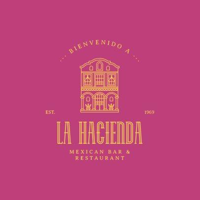 Logo Maker for a Mexican Restaurant Featuring a Building Facade Graphic 3605g