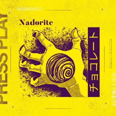 Album Cover Maker for a Heavy Hip-Hop Musician with Anime Graphics 2872e