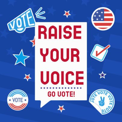 Political-Themed Instagram Post Creator Featuring a Go Vote Text 2875f