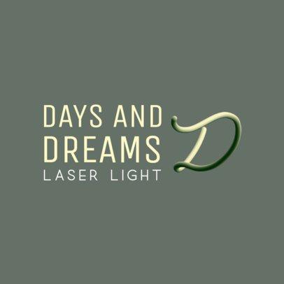 Logo Creator Featuring a 3D Letter Monogram 3614d